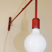 Industrial Red Wall Lamp