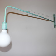 Industrial Aquamarine Wall Light