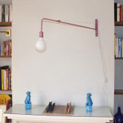 Industrial Pink Wall Light