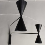 Wall Lamp Two Arm Bats Lights Black