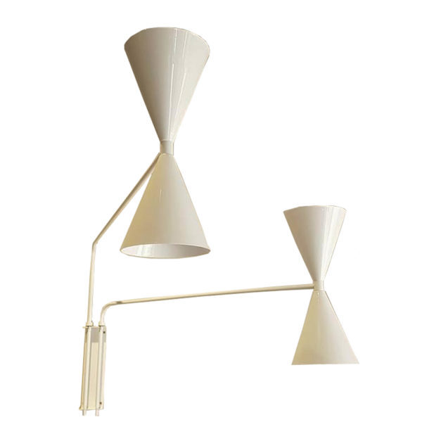Wall Lamp Two Arm Bats Lights White