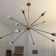 Sputnik Ceiling Light with 12 Arms
